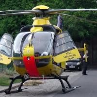 Hubschrauber landete in der Grüntaler Straße in Wedding