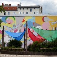 Marlene Jachmann und Max Stock - künstlerische Fassadenstaltungen in Kreuzberg und Wedding