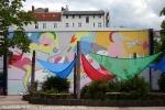 Marlene Jachmann Fassadenkunst WilhelmHauff Schule 2006
