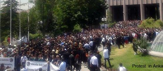 ankara Anwälte protestieren