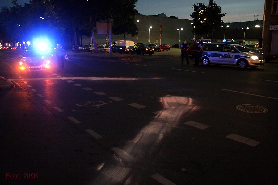 unfall Rollerfahrer prinzenallee bellermannstrasse