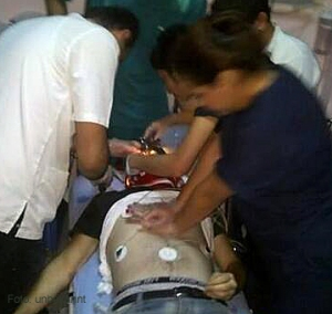 Ahmet Atakan im Krankenhaus in Antakya