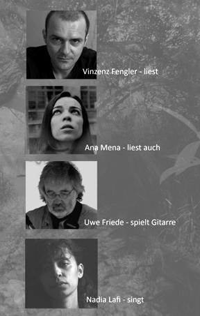 "Vinzenz Fengler"" Lafridé"" Nadia Lafi, Gitarrist Uwe Friede, Schauspielerin Ana Mena,"