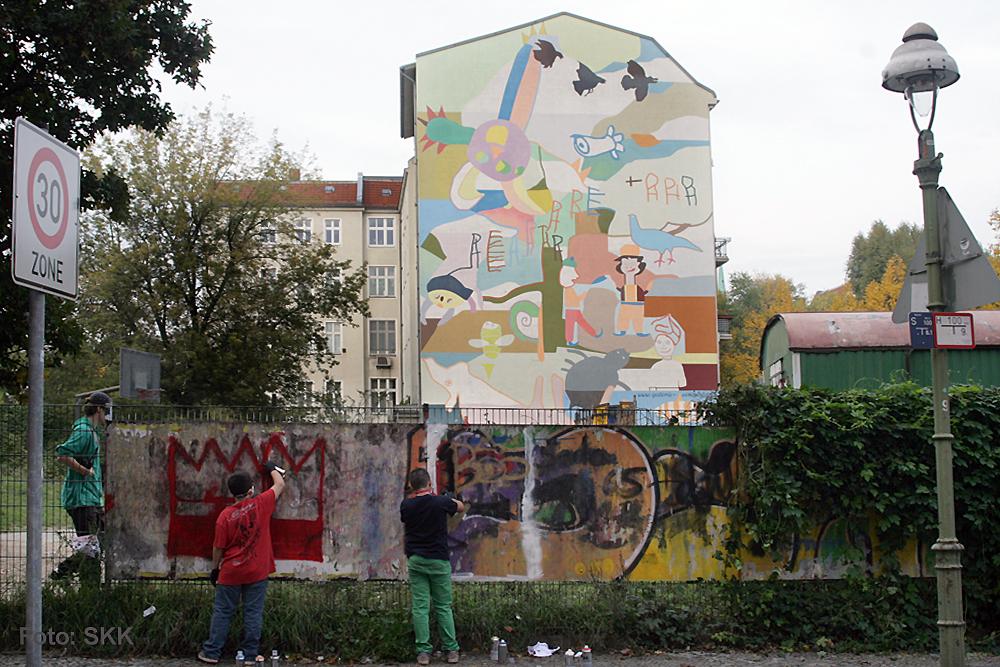 graffiti aktion gotoenburger straße
