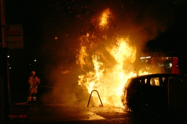Wedding Biesentaler Straße Auto Brand Feuer (5)