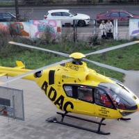 Hubschrauber landet auf dem Spielplatz in der Prinzenallee