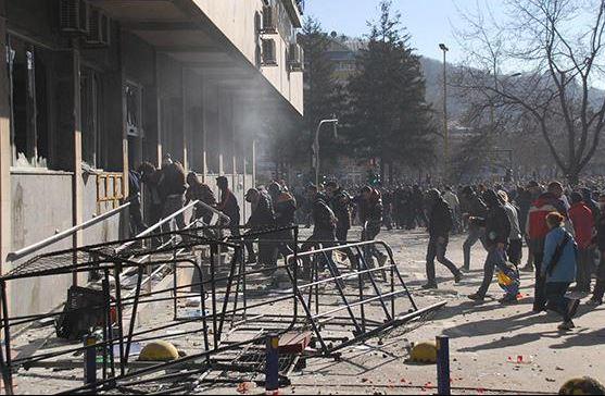 bosnien stürmung des rathaus in sarajewo