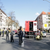 Kellerbrand in der Wollankstraße in Gesundbrunnen