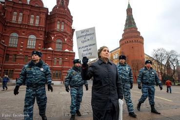 Moskau protest Ukraine besetzt