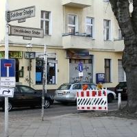 Teilsperrung in der Stockholmer Straße