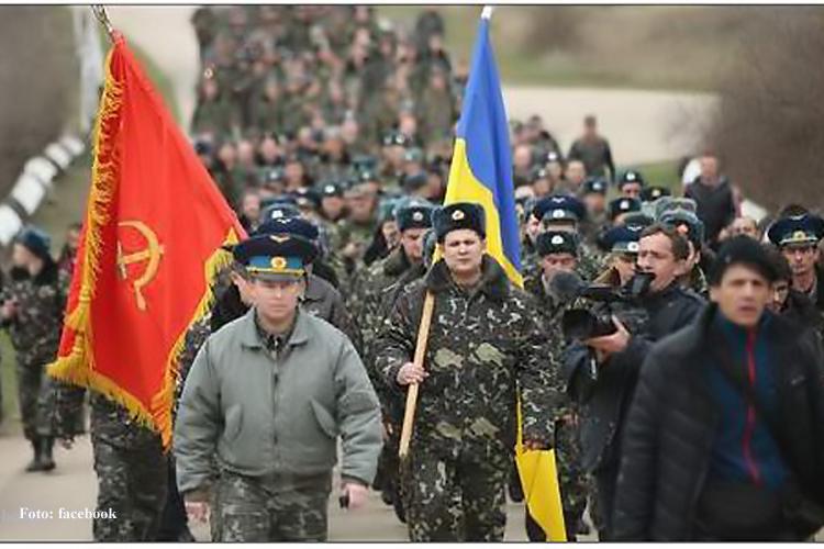 Ukrainer machen militärische Aktion auf der Krim