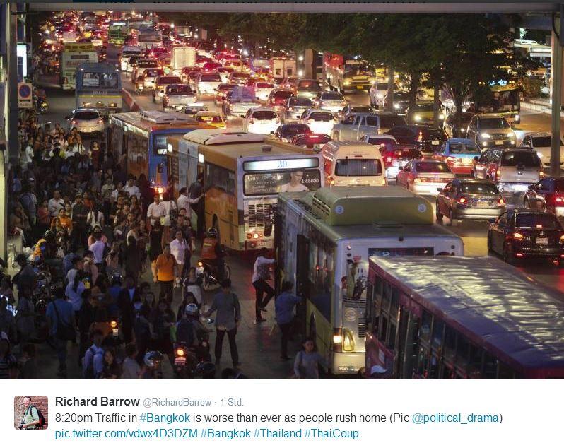 bangkok vor der Ausgangssperre