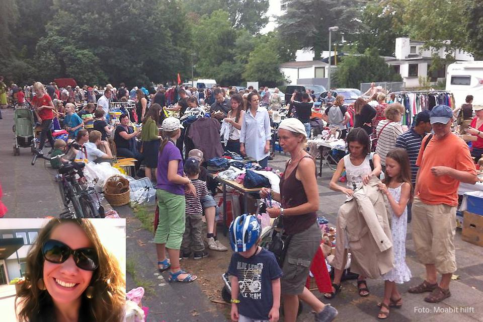 Diana Lucienne Moabit hilft Flohmarkt für Bedürftige
