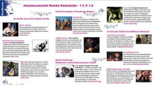 DER KIEZKLANG FLYER MIT ALLEN DETAILS ZUM PANKE-PARCOUR und den zusätzlichen Veranstaltungen im Soldiner Kiez als Beitrag zum WeddingMoabitf-Festival 2014