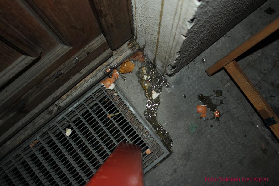 Eier attacke im Soldiner kiez (3)