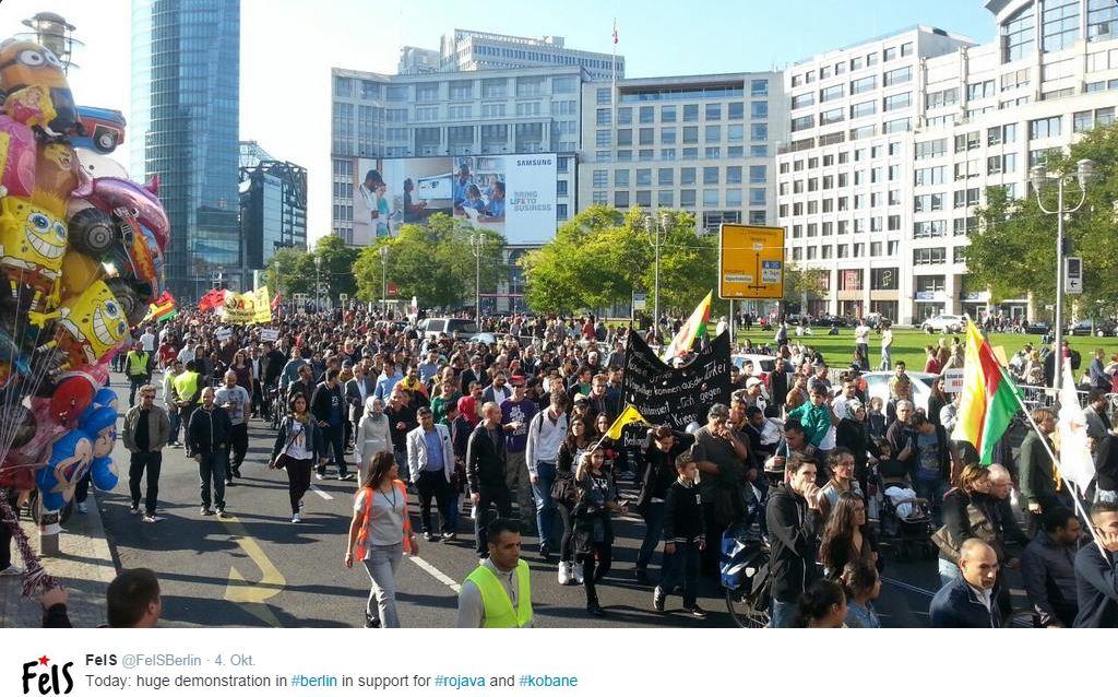 4okt demo kobane in berlin