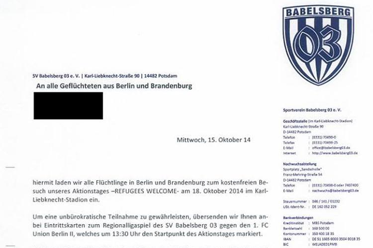 Babelsberg 03 gibt freikarten für spiel gegen union berlin