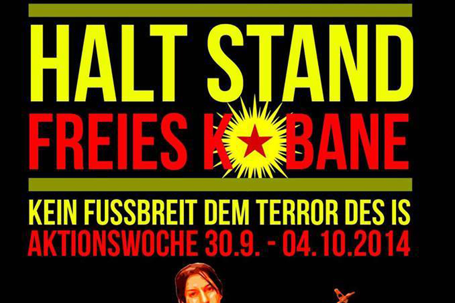 halt stand kobane demo berlin potsdamer platz titel