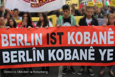 Jugend Soli Demo für Kobane in Wedding