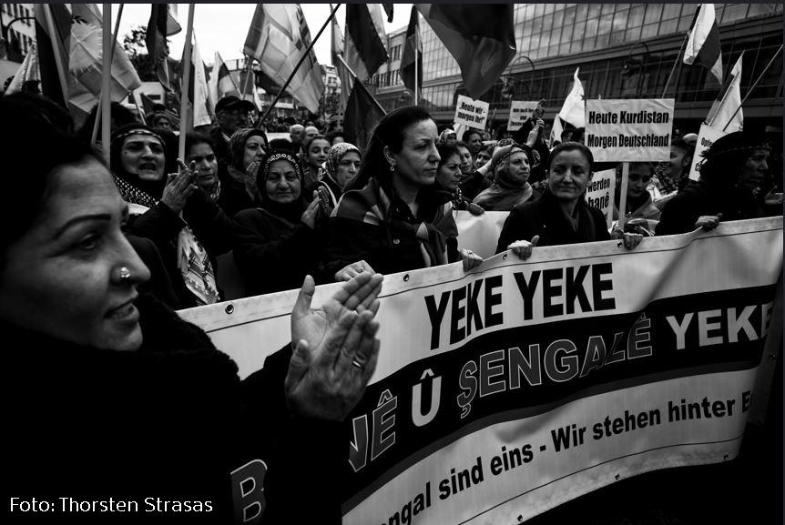 yeke yeke kobane demo kreuzberg Thorsten Strasas