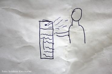 Zeichensprache Kinder Flüchtlingsnotunterkunft Gotenburger strasse (1)