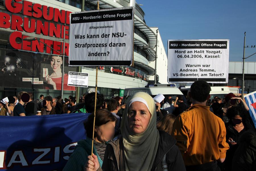 Demo gegen Rassismus NSU gedenken gesundbrunnen nov 14  (1)