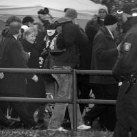 Festakt 20 Jahre Mauerfall auf der Böse Brücke (Bornholmer Brücke) in Berlin Wedding - Fotoreportage