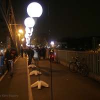 Fotoreportage Lichtgrenze zum 25. Jahrestag des Mauerfalls an der Borholmer Brücke