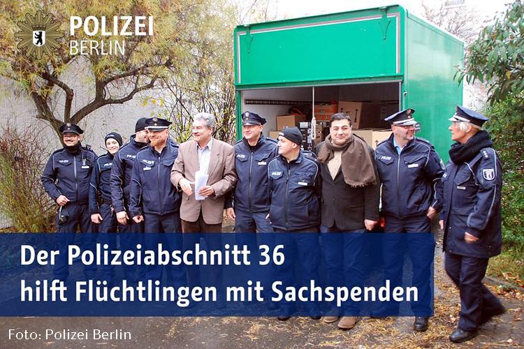 Spendenaktion für flüchtlinge von Poliezi Abschnitt 36
