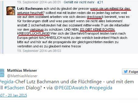 Bachmann gehetze auf facebook
