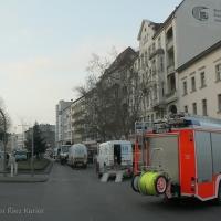 Gasleck mitten auf der Badstraße - Das Gasrohr wurde angebohrt