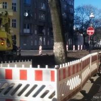 Die Jülicher Straße in Berlin Gesundbrunnen wird entpflastert