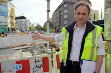 Bauleiter der Firma beton&rohrbau Lars Kolbig