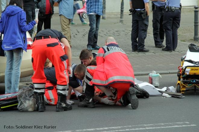 Unfall Wollankstrasse Frau verletzt (2)