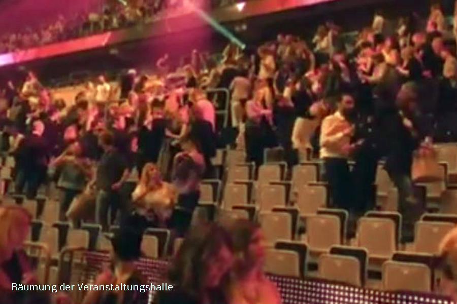 Bombendohung bei GNTM Finale Räumung SAP Arena