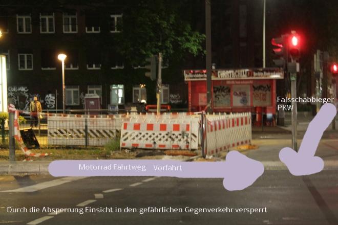 Motrorrad Unfallanalyse Ecke Osloer strasse Prinzenallee (2)