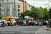 schwerverletzte motorradunfall osloer strasse prinzenallee Berlin (1)