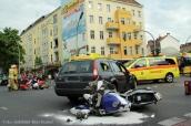 schwerverletzte motorradunfall osloer strasse prinzenallee Berlin (13)