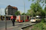 Tramunfall mit Taxi Prinzenallee Ecke Osloer Straße (1)