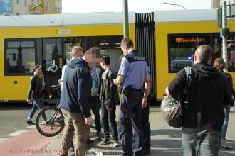 Tramunfall mit Taxi Prinzenallee Ecke Osloer Straße (3)