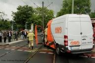Tramunfall kleintransporter osloer ecke Prinzenallee (11)