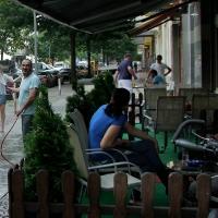 Heißer Tag in der Koloniestraße
