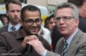 Kbna Besuch Thomas de Maizière zusammen mit Yousef Ayoub