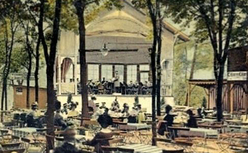 Pankgraf Biergarten um 1900