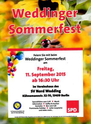 Weddinger Sommerfest 2015 SPD titel