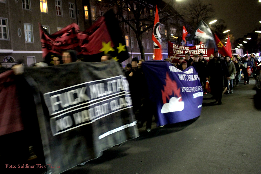 Bundeswehr raus aus syrien demo durch soldiner kiez (2)