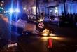 Überschlag Unfall in der Prinzenallee (3)