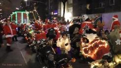 Christmas Bike Tour 2015 Santa claus on road (8)