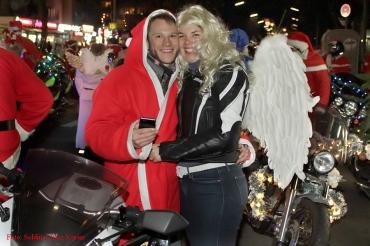 Christmas Bike Tour santa Claus on Road Soldiner Kiez