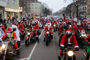 Santa Claus on Road biker tour 1